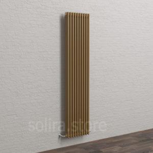 Solira Трубчатый дизайн радиатор 3200, цвет Золотая Москва (RAL1036 металлик)