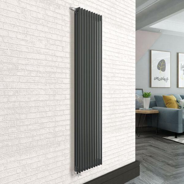 Вертикальный радиатор SOLIRA 3200/10 Черный текстурный