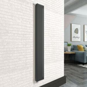 Вертикальный радиатор SOLIRA 3200/6 Черный текстурный